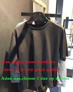 2020SS Moda Letter Tasarım Erkekler Casual Pamuk kısa kollu t shirt Kadınlar İnce Asya boyut S-XXL