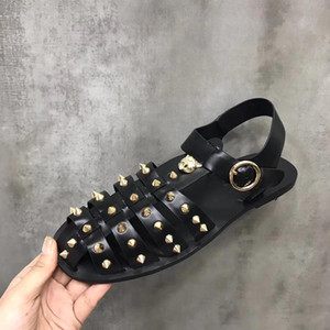Hot Sale-mucca sandali borsa in pelle punta Estate piattaforma GoldenTiger piatto moda casual Horsebit Mocassini, 38-45