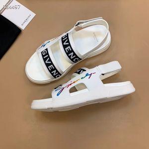 men flat sandals real leather studs sandal Rivet transparent slippers slide sandals flip flops