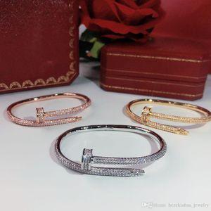 prodotti di vendita caldi vite unghie esercitazione completa donne punk Gold Bracelet Bracciali per il migliore regalo dei braccialetti di gioielli di lusso di qualità superiore