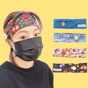 2020 New Arrival Button Headband Hairband Yoga Knitted Stretch Hairband Girls Bandanas Hairbands Womens Hair Accessories