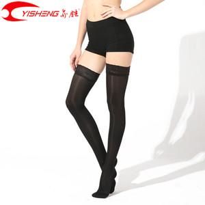 Yisheng Sıkıştırma çorap Varis Kadınlar Yaz Dantel Çorap Uzun Çorap 15-20mmHg