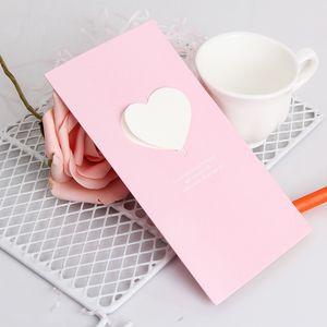 Love Heart Mini Greeting Card Valentine's Day Gift Card Creative DIY Cards Happy Birthday Wedding Invitation