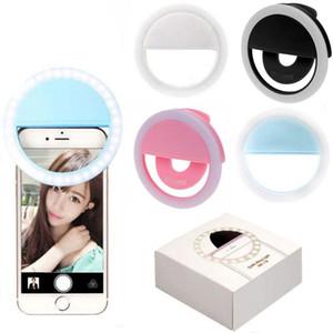الصور الشخصية للحلقة الضوء كليب على USB قابلة لإعادة الشحن 36 LED كاميرا الهاتف ملء ضوء بيض الجمال التخسيس التصوير مصباح عناصر الجدة OOA6647-1