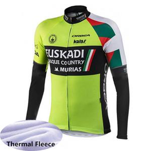 Мужчины Велоспорт трикотажные изделия Pro Team EF Education First / EUROPCRA / Euskadi / с длинным рукавом велосипед рубашка зима тепловой флис велосипед топы Y110701