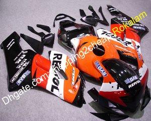Per la Honda CBR1000RR 2004 2005 CBR 1000 1000RR CBR1000 04 05 Arancione Rosso Bianco Nero Repsol carenatura del motociclo (Injection Moulding)