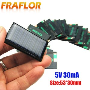 Consumer Electronics 10Pcs Lot 5V 30mA 53X30mm Micro Mini Small Power Solar Cells Panel For DIY Toy, 3.6V Battery Charger Solar LED Light