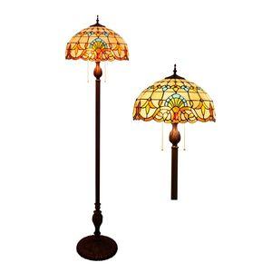antique baroque lampes vitraux Tiffany Lampadaire café lampadaire étude chambre hôtel hall TF027
