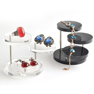 High-end Acrylic Three-turn Display Round Table Ring Display Stand Earrings Display Seat Jewelry Counter Props Free Shipping