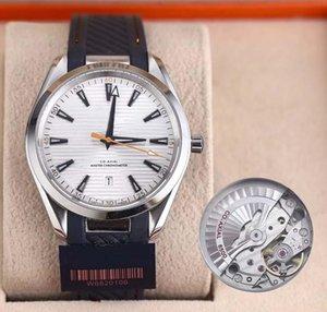 mens luxo Hot relógios co-axial 8500 Assista Movimento Automático Dial relojes 38mm borracha de alta qualidade SEA correia Horizontal relógio de pulso textura