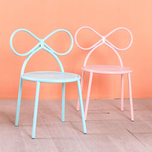 Children's Dining Chair Students Study Write Butterfly Chair Iron Cute Low Household Stool Baby Backrest