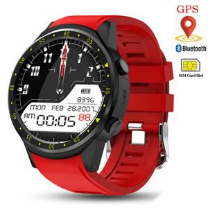 Inteligente GPS del reloj de los hombres con la tarjeta SIM de la cámara F1 inteligente relojes del ritmo cardíaco teléfono Deporte detección conectada para el reloj iOS Android