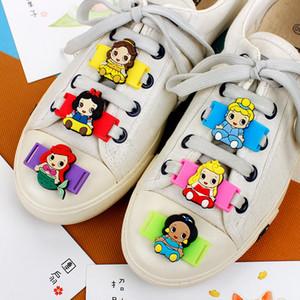 Cartoon Models PVC Shoe Decorations 6-12 Pcs Princess Series Casual Sports Shoes Accessories Teens Childrens Shoelace Ornament
