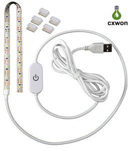 Hohe Helligkeit 5V LED-Streifen Dimmbare SMD2835 2M USB-Energien-Spiegel LED-Streifen-Noten-Schalter wasserdichte LED-TV Hintergrundbeleuchtung