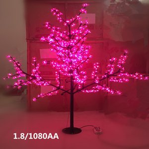 6 LED couleur Cherry Blossom Arbre de lumière LED Light Arbre artificiel ampoules LED 1.8m Hauteur 110 / 220VAC Waterprood IP65