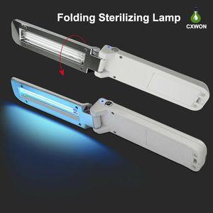 La luce germicida UVC Handheld LED Phone Spazzolino Maschera sterilizzatore UV Floding USB portatile a pile disinfezione a raggi ultravioletti lampada