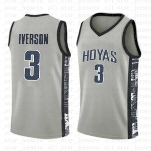 NCAA Lower Merion Basketball Jersey Georgetown 3 Allen Iverson 3 Bethel High Escola University College 2019
