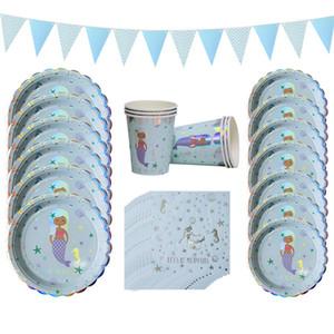 Economico fai da te Decorazione poco per feste di compleanno di tema Mermaid Decor Mermaid Banner Balloon For Kids Bomboniere Decorazione per feste