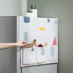 PEVA Réfrigérateur Hanging Sac de rangement étanche Four anti-poussière couverture Sac Creative Imprimé Organisateur Pouch Réfrigérateur Cuisine Alimentation DBC VT0450