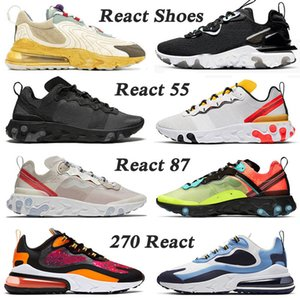 sapatos Nike Air Max React Vision D-MS-X Undercover Element 87 55 stock x tênis de corrida 270 React ENG Travis Scott Cactus Trails homens mulheres EPIC Designer Sneakers Traienrs
