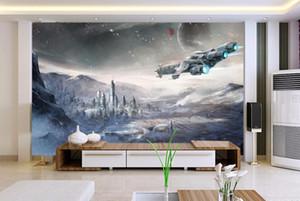 Stars War Spaceship 3D Cartoon Wallpaper Mural para BabChild Room Sofa Background Foto 3d Mural 3d Cartoon Mural Papel de pared