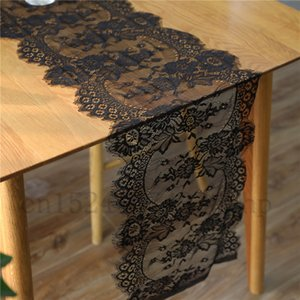 Lace Table Runner 35X300CM Boho Wedding Table Decoration Floral Table Cover Vintage Look Birthday Party Supplies