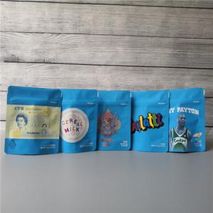COOKIES California SF 8 3.5g Mylar Childproof Sacs 420 Conditionnement Lait de céréales Gelatti Gary Payton Cookies Taille du sac 3.5g-1/8 Sacs