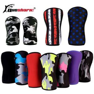 7 mm de neopreno pesas deportivas rodilleras compresión Powerlifting cuclillas Training protector de la rodilla Joelheira Crossfit rodillera