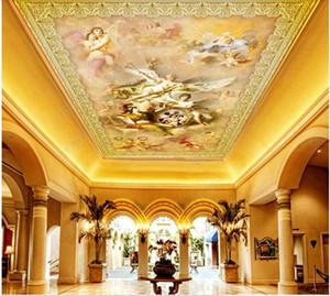 WDBH papier peint peinture murale de plafond 3d ange modèle européen sur mesure photo figure salon décoration des peintures murales 3d fond d'écran