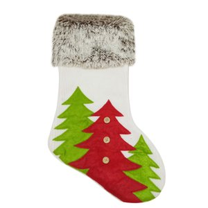 Large Christmas Stocking Santa Claus Sock Gift Holder Christmas Tree Decoration New Year Gift Bags Candy Bags