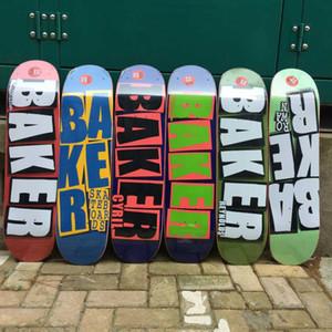 Baker Skateboard 8.0 pollici a forma di U trasversale Skateboard 7 strati Canada ponte di legno a tre strati di tintura bordo del pattino di alta qualità