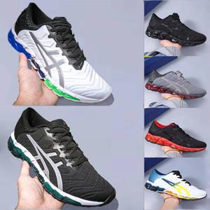 Con la scatola Asics GEL-Quantum 360 5 Giovanile Mens nuovo Esecuzione di ammortizzazione Scarpe Bianco Nero Rosso PIEMONTE GREY studenti Sneakers