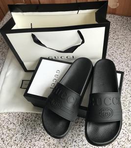 sandalias de la señora clásica hebilla de metal hebilla de cuero de fondo plano playa zapatos de mujer diseñador lujo de la mujer sandalias Negro tamaño grande US11 10 35-42