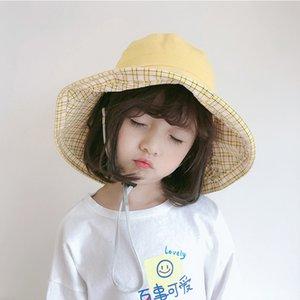 WeMe Child Hat Big Brim 8.5CM Fisherman Hat Summer 0utdoor Bucket