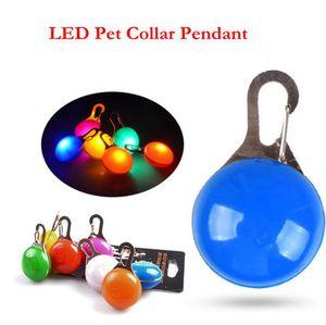 LED Pet Воротник Подвеска фонарик Ошейник Светящиеся Night безопасности Pet Ведет ожерелье Luminous Светлый ошейники OOA7399-6