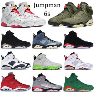 umpman 6 6s tênis de basquete Hare DMP Mens 2020 Sneakers Atlético denim lavado Travis Scotts sapatos de desporto Paris Formadores