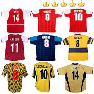 2002 2003 1991 1993 1994 1997 2000 2002 2006 HENRY maillot de football Retro Wright FABREGAS Ljungberg Vieira v.PERSIE chemise BERGKAMP de football