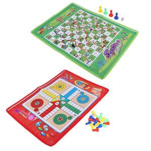 Tablero de ajedrez del hogar del recorrido del vuelo del vuelo de Ludo Juego de ajedrez Juego de niños de juguete