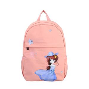 Pink School Backpack for Teenage Girls Cute Back Pack Women Nylon Lightweight Leisure College Style Backbag Teen Bgapack Youth