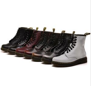 2019 outono e inverno nova couro botas Martin tubo curto botas atacado 7 cores cor esfregar botas modelos casal de couro