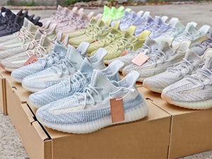 Designer Hommes Femmes Chaussures Kanye West Runner Courir Chaussures de sport White Cloud Hyperspace Glow Zebra statique réfléchissant de basket-ball Formateurs US13