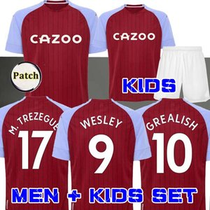 New Aston Villa jerseys occer 2020 21 Aston Villa casa Grealish M. Trezeguet Wesley El Ghazi Hourihane Douglas Luiz McGinn MAN + KIDS occer