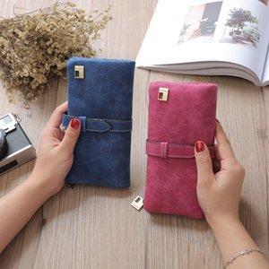 2019 новый дизайн леди кошелек горячее надувательство ретро матовый двойной раза с длинной сумкой и мульти-карты сиденья бесплатная доставка