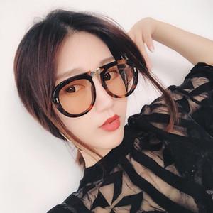 Rhinestones Moda Güneş Gözlükleri Unisex Tasarımcı Büyük Çerçeve Katlanmış Gözlük 6 Renkler ile Çerçeve Katlanır Toptan-Tasarımcı Güneş Gözlüğü
