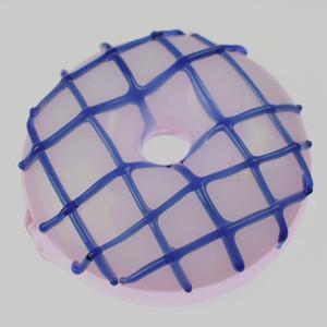 Preços por Atacado único tubo Popular 3 polegadas de diâmetro Pipes Rodada Shap Donuts cachimbo de vidro fumadores Mini portátil para tubos de vidro da mão