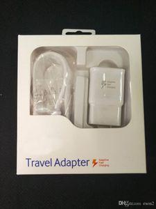 2 in1 Schnell-Ladegerät Kits Schnelllade Ladegerät Adapter + 1.5M USB-Kabel Schnell Adaptive Travel Adapter mit Kleinpaket