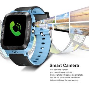 자녀 안티 분실 음성 통화 SOS 알람 시계 Y21s 어린이 터치 스크린 스마트 폰 위치 GPS 추적기 시계 카메라