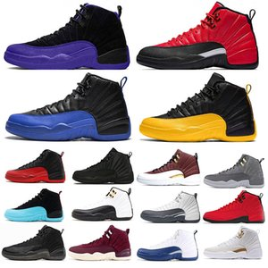 Nike Air Jordan Retro 12 Game Royal Ball Basketball Shoes Fiba Reverse Taxi University Gold Hot Punch Dark Grey 12s Mens Sports Jumpman Sneakers