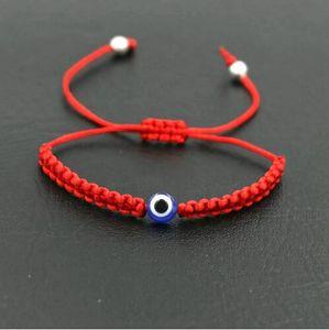 20pcs / 10set de Lucky turco mal de ojo trenza pulsera azul rojo de la cuerda de rosca Cadena Hombres Mujeres pulseras Chakra joyas de las parejas