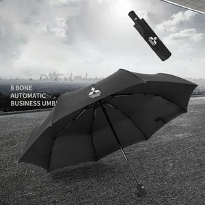 Fully Automatic Three Fold Umbrella Mitsubishi Men's Special Business Umbrella rain umbrella Y200324